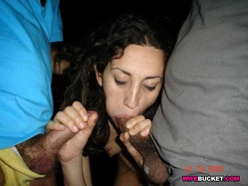 girl handjob facial