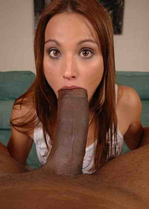 Nerdy MILF sucks and gags on BIG dick until it erupts! add photo