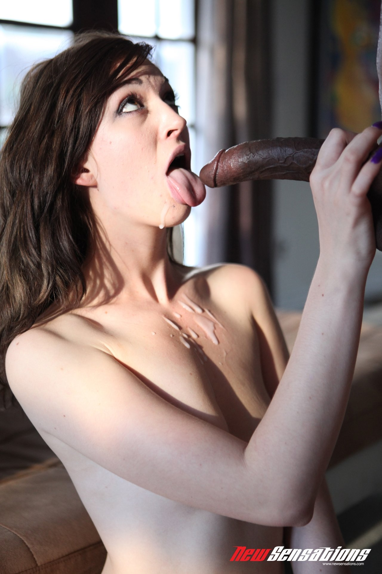 Wife bade submissive interracial sex