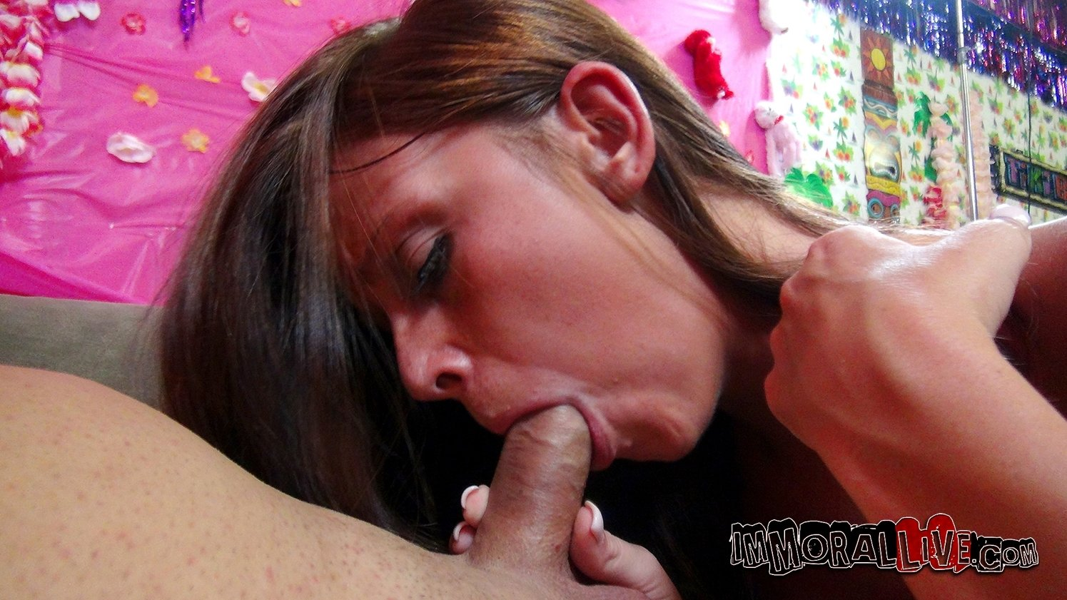 sexy couple blowjob