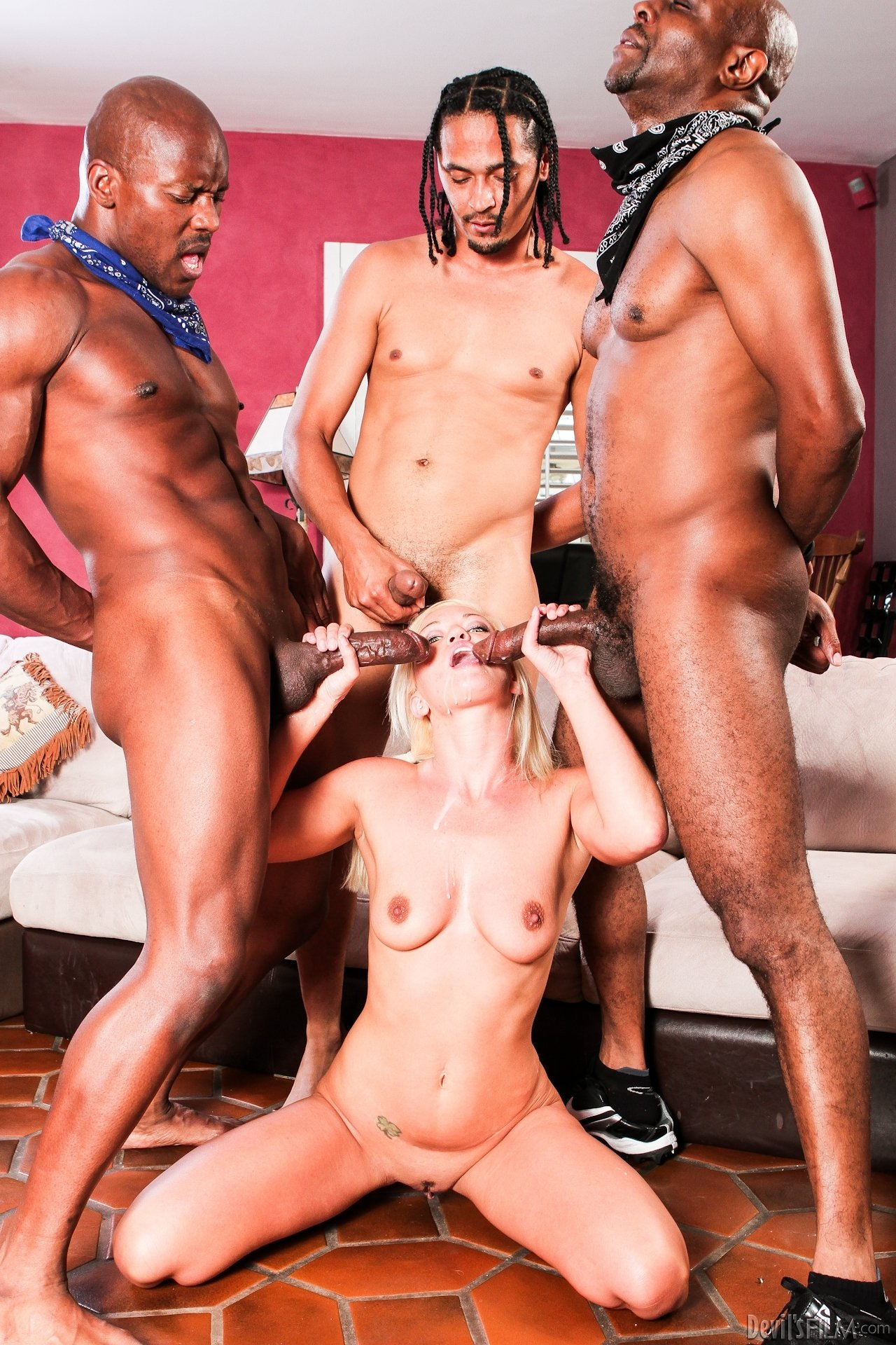 4 cocks 1 girl