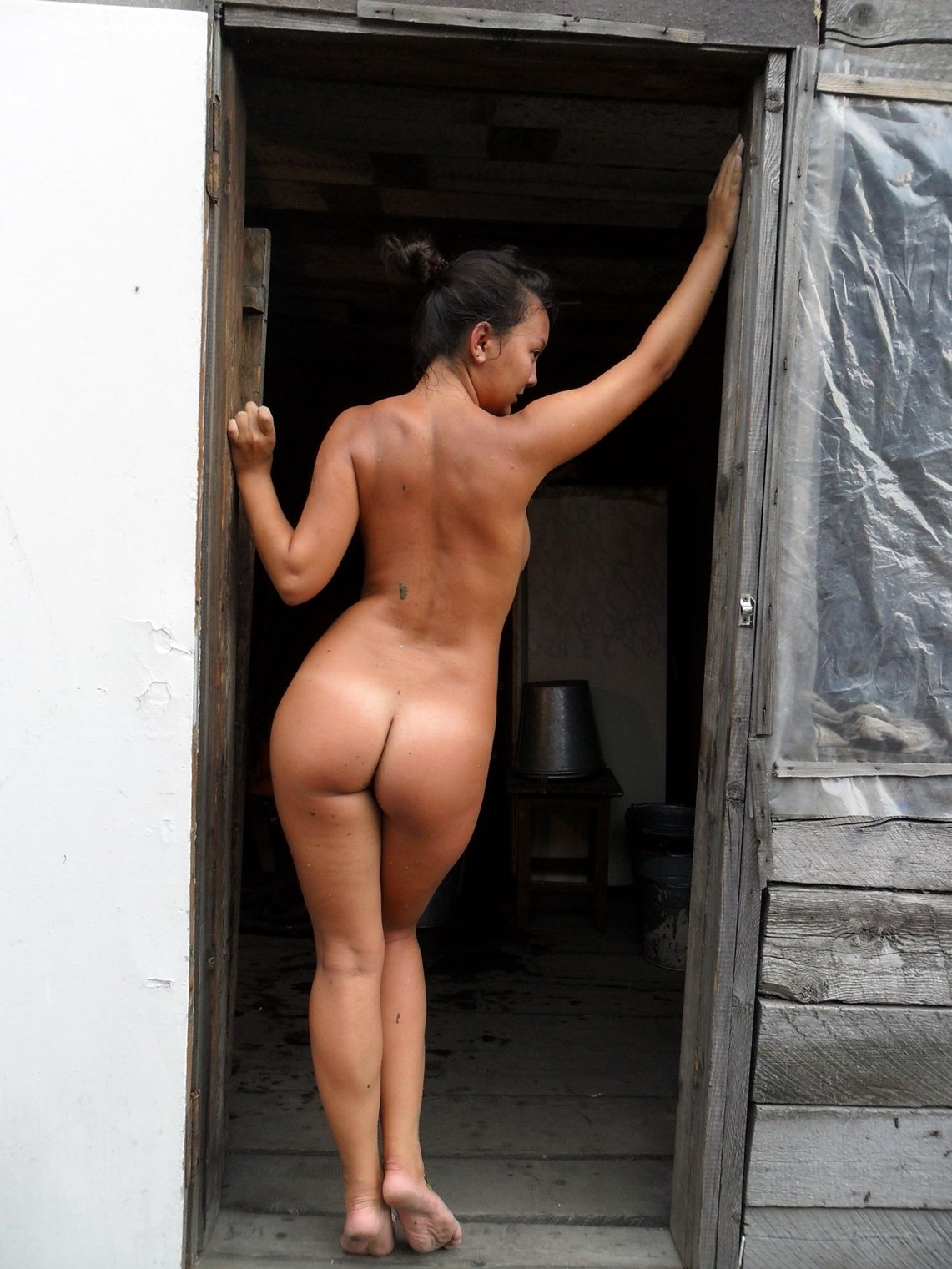Naked wifes in public