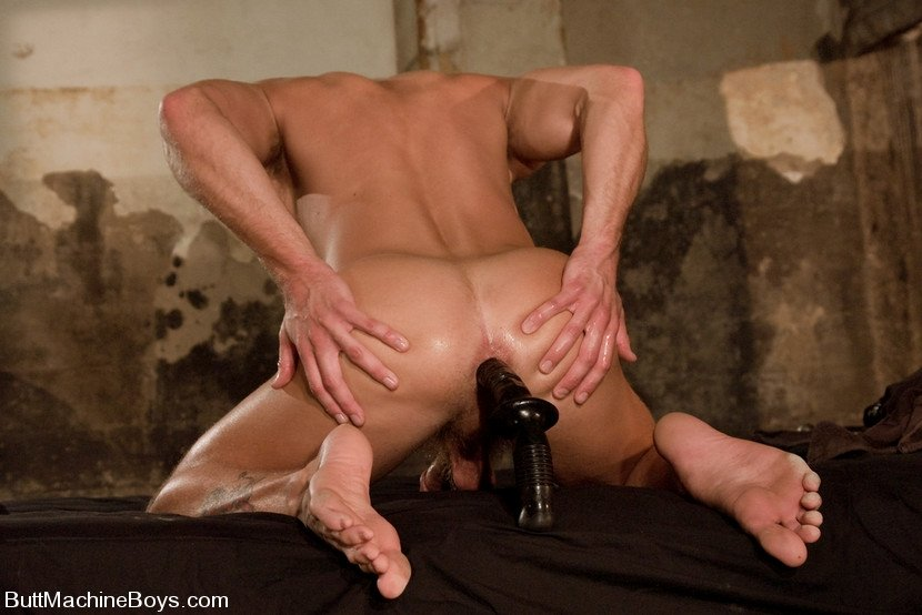 Impaled on dildo forced