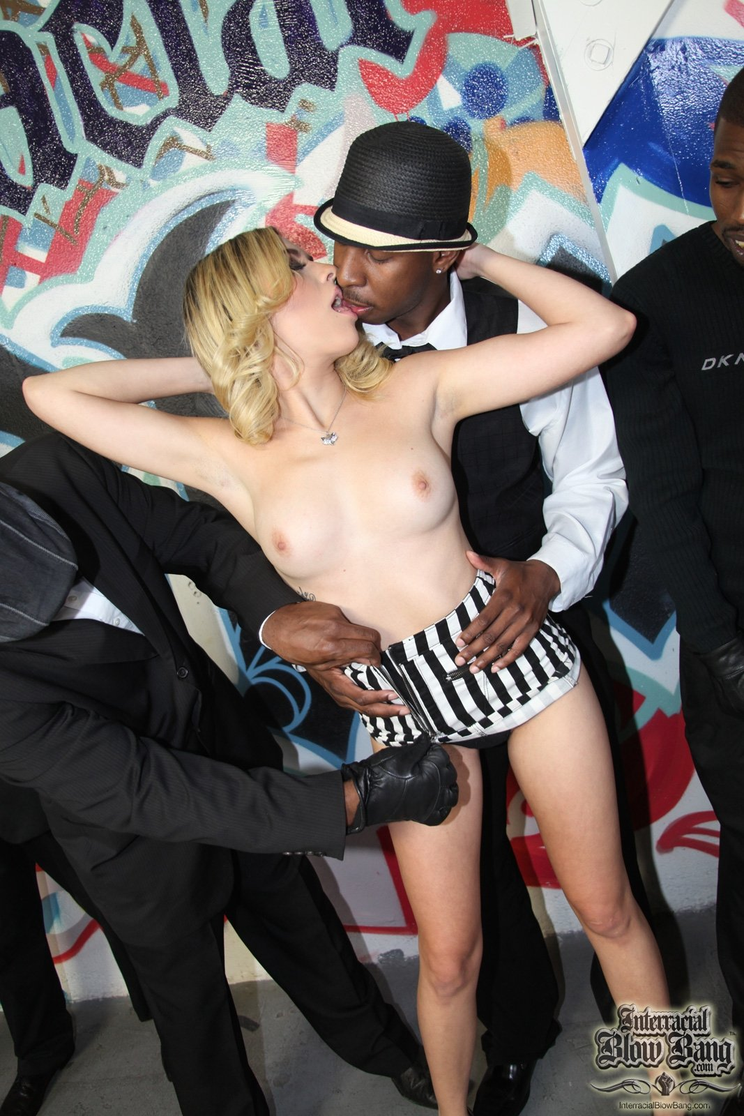 sloppy interracial blowjob there