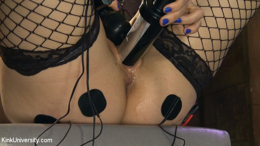 Electro pussy torture