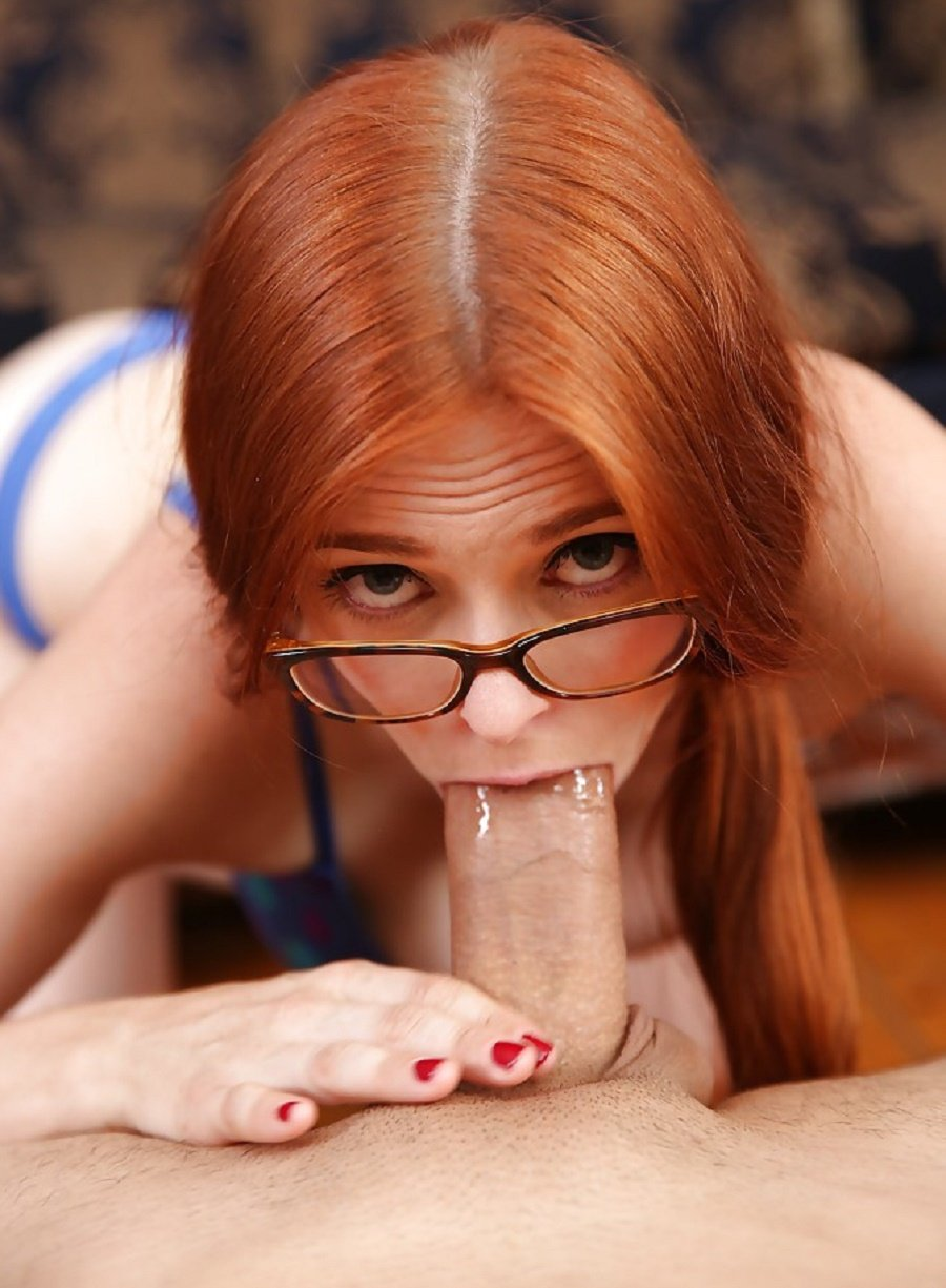 Redhead Gives Blowjob On Camera!