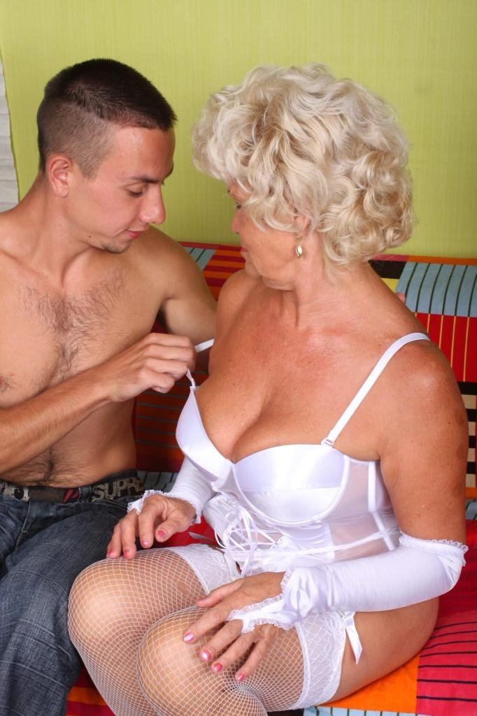 German granny and boy porn #1