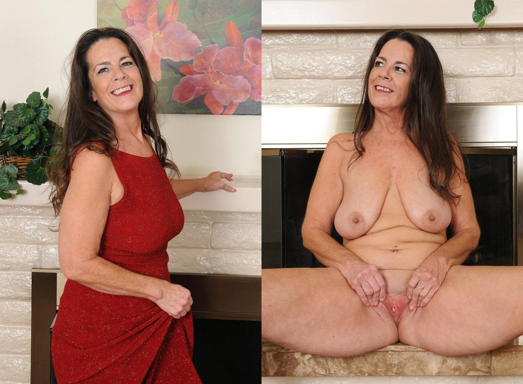 Mature wife double