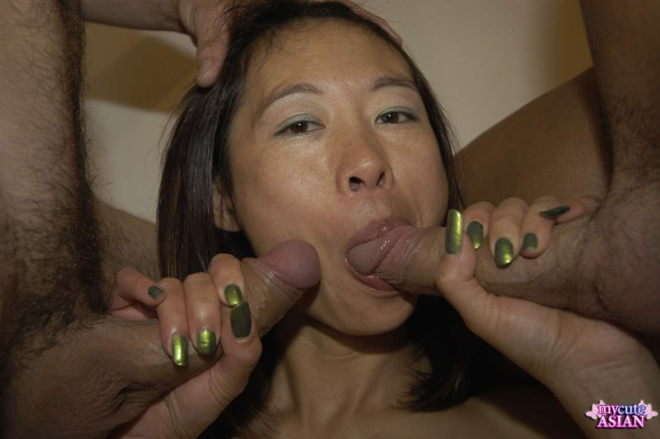 Fucking asian wife with massive creampie ending 2