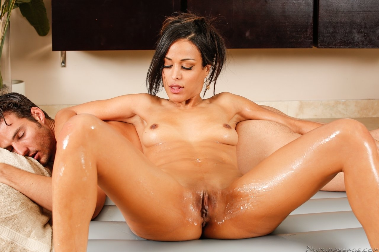 megan rain oiled up