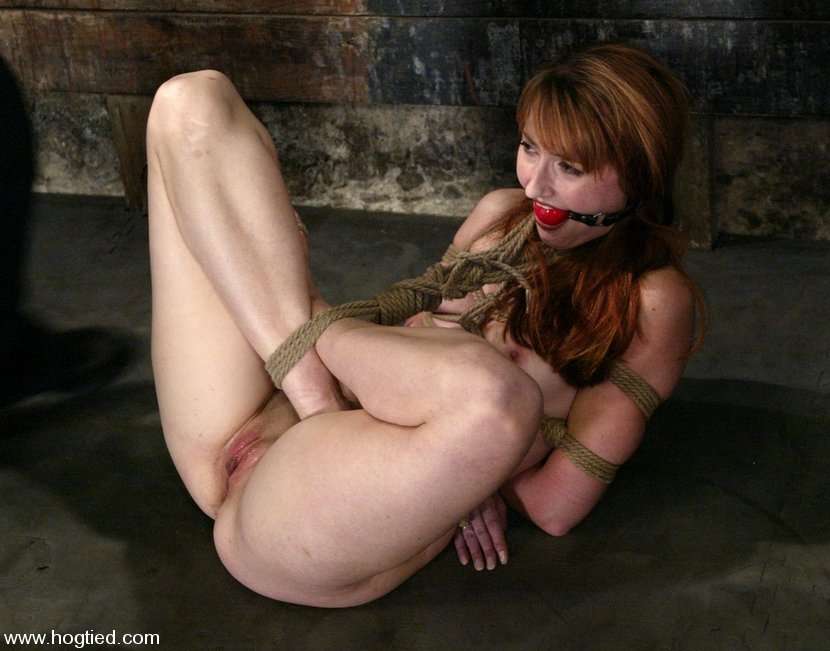 Teen hogtied
