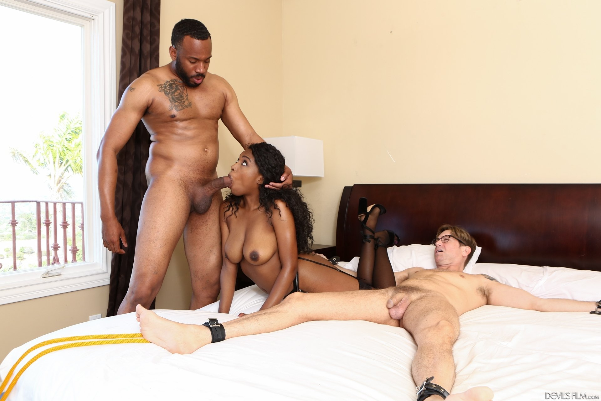 Japanese wife forced by husband boss