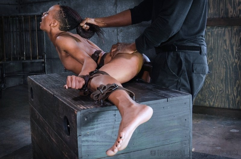 Black bondage gay twink xxx taped down twink drained of cum