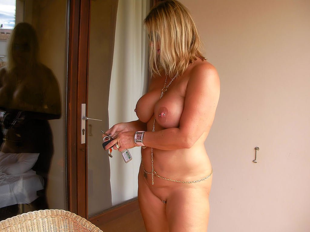 Blond woman having sex #1