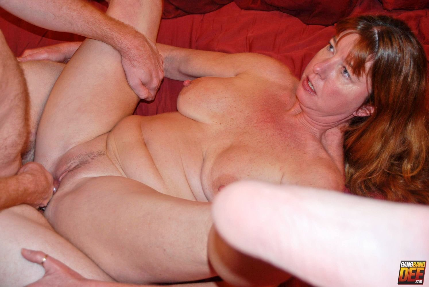 blonde milf giving head there