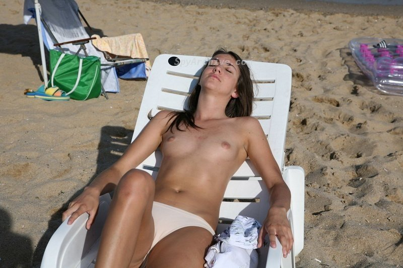 busty beach video