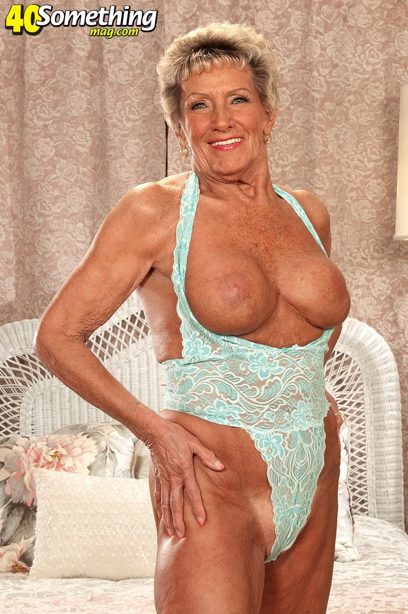 big tit granny facial there