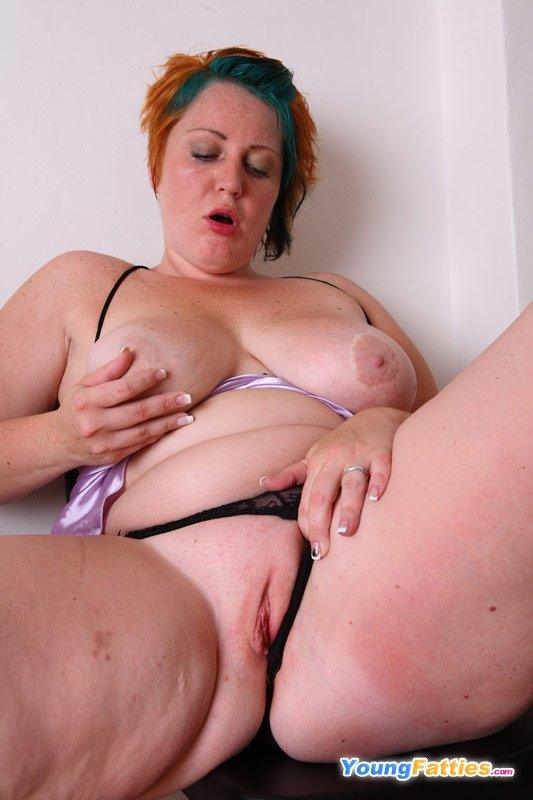 Belt garter mature wearing woman