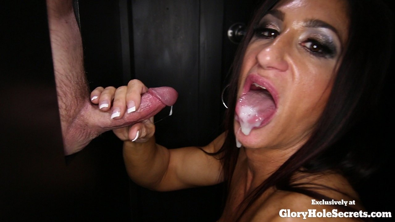 best of Black Chick Gives Gloryhole Blowjob 16