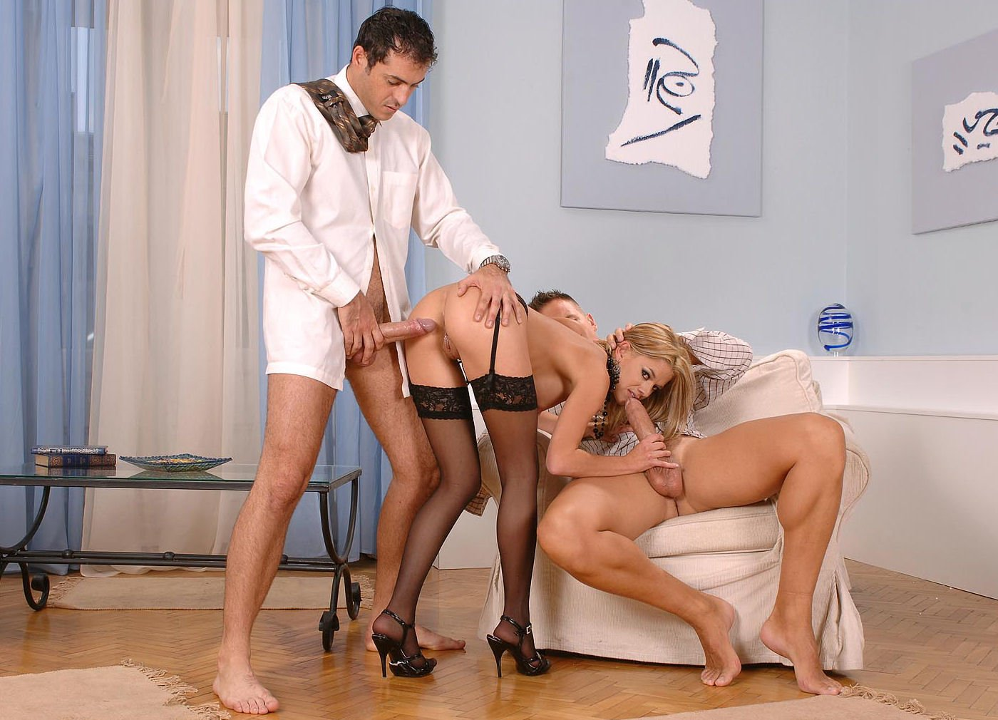Clamped up honey is receiving lusty facial anguish