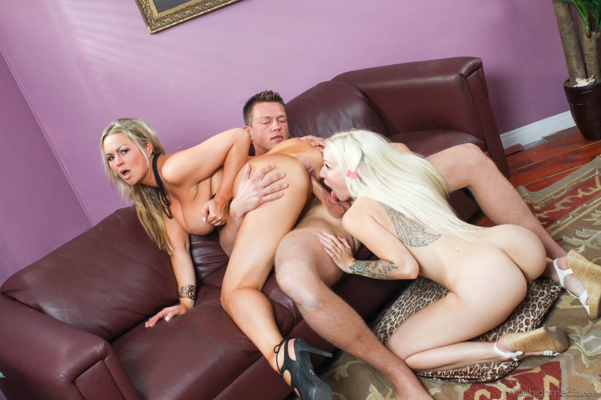 classic busty threesome add photo