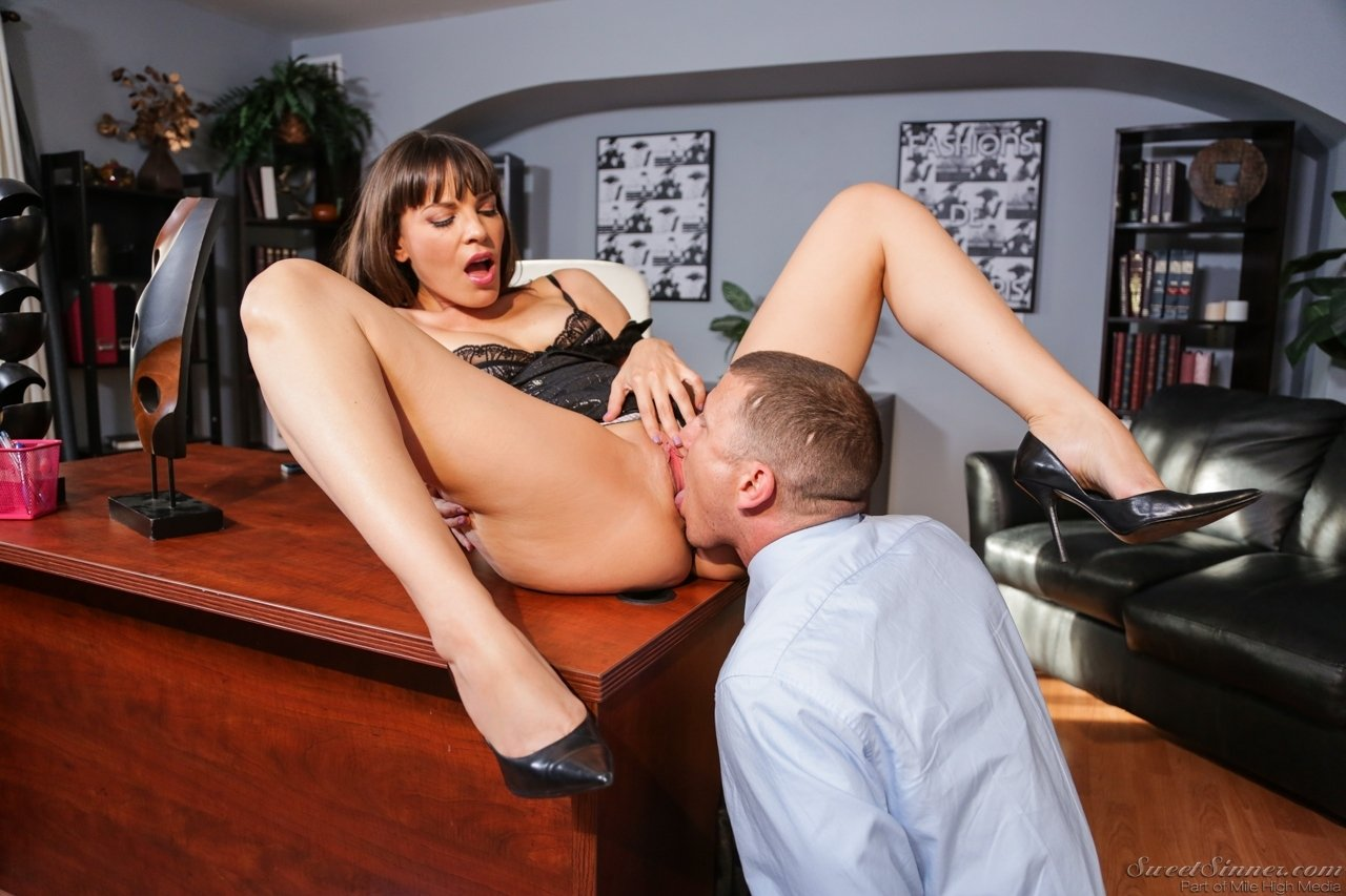 Office alone pussy sex