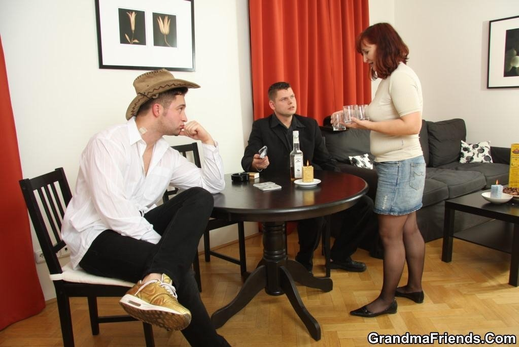 Teenie nudist threesome with wife and another man