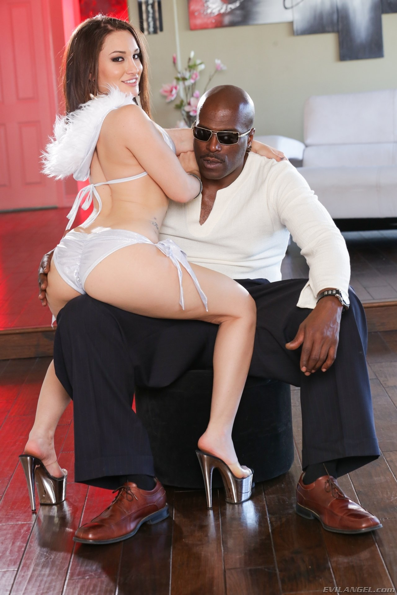 forced bi interracial cuckold there