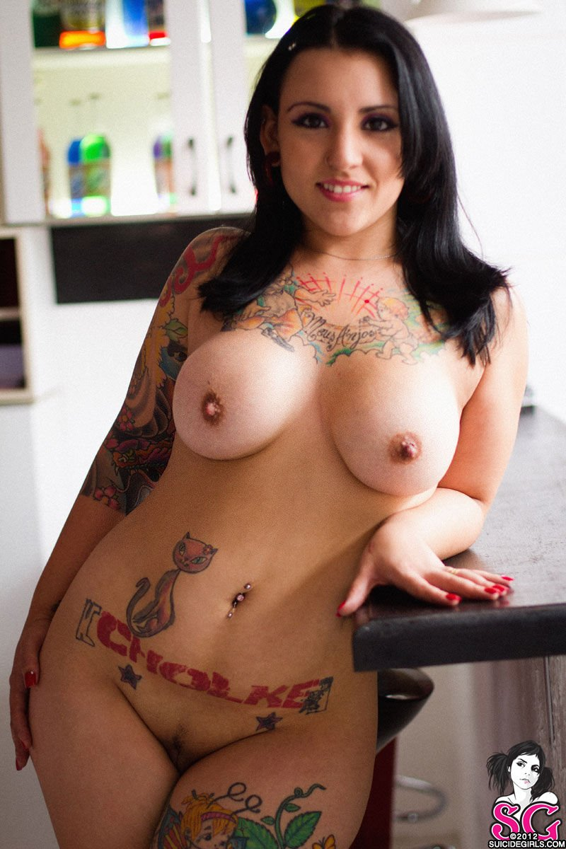 Naked ladies with tattoos big tits