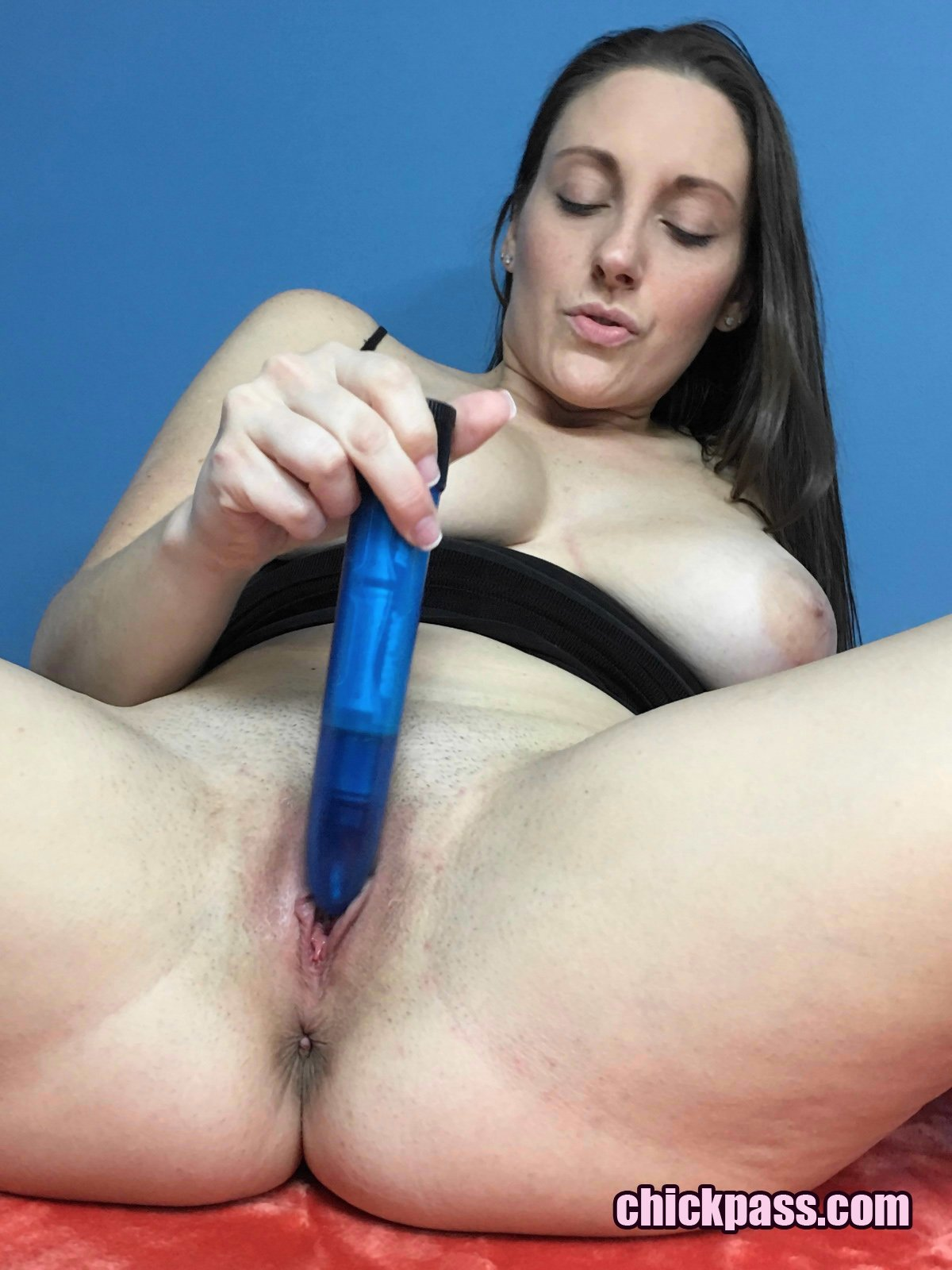 Damn playing with her dildo that