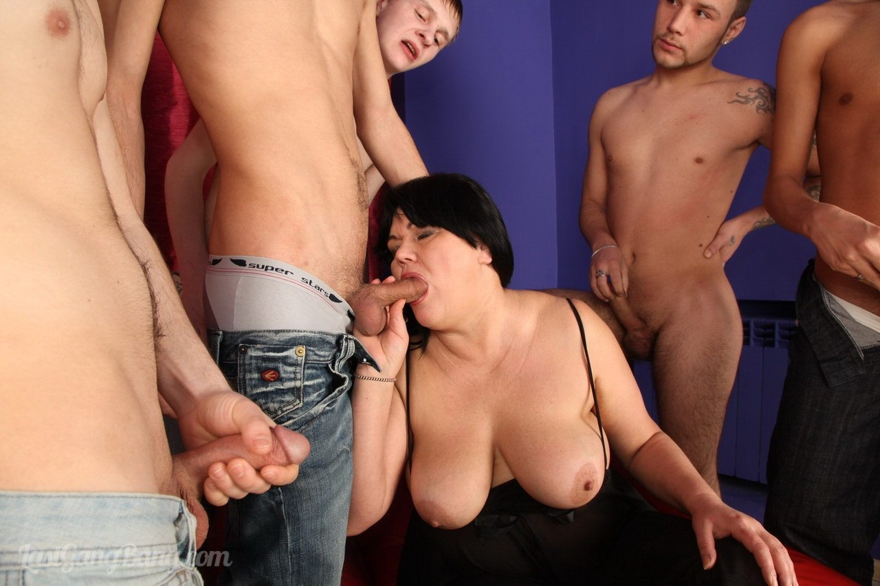 Gangbanged friend's mom in front of him