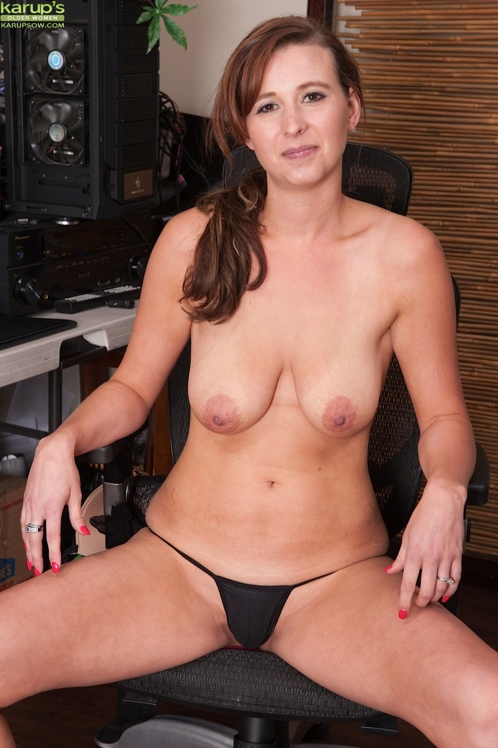 Baran    reccomend Breasty mature darling is getting her wild cookie devoured