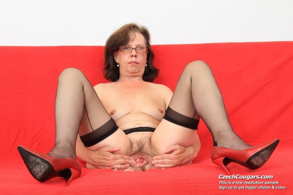 horny mature plumper and her toy boy there