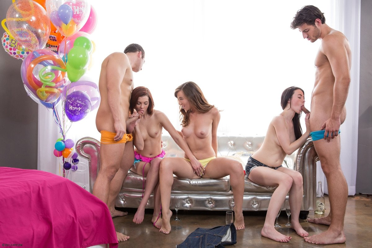 large group sex party