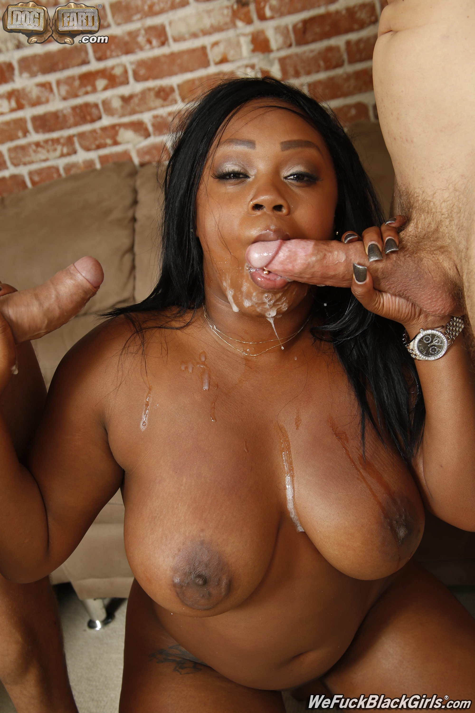 Cum in ebony