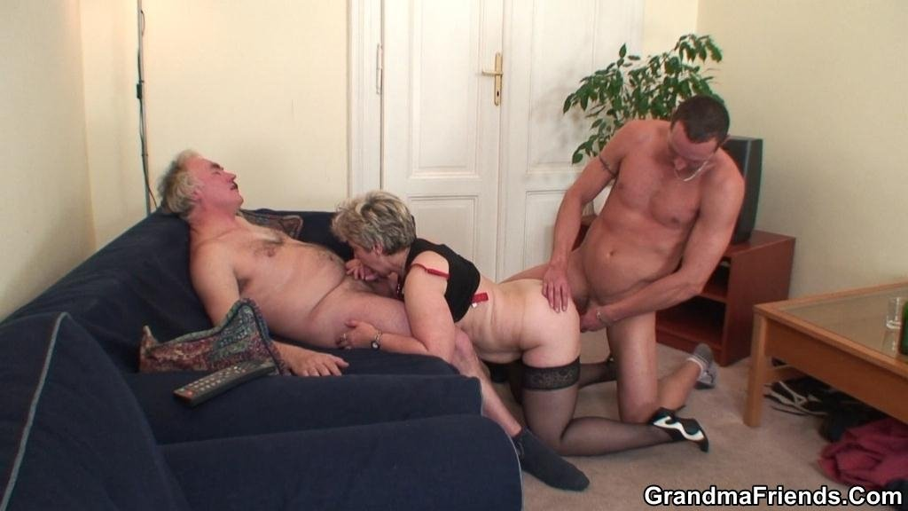Domme with cuckold subs stripper threesome porn