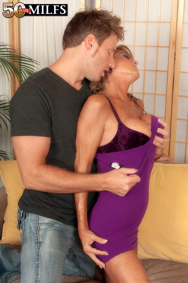 Blond hair sex Son fucks passed out drunk mom