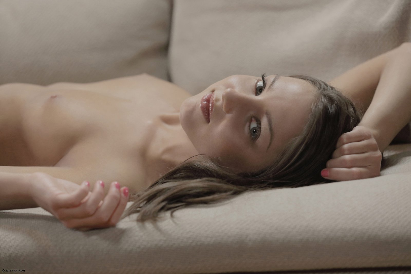 Lovely womansets a massage for husband