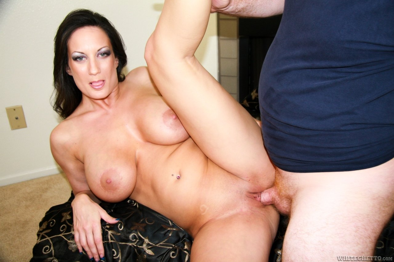 Taboo family threesome mom big boobs with son