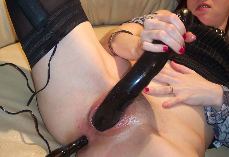 homemade sex toy with condom