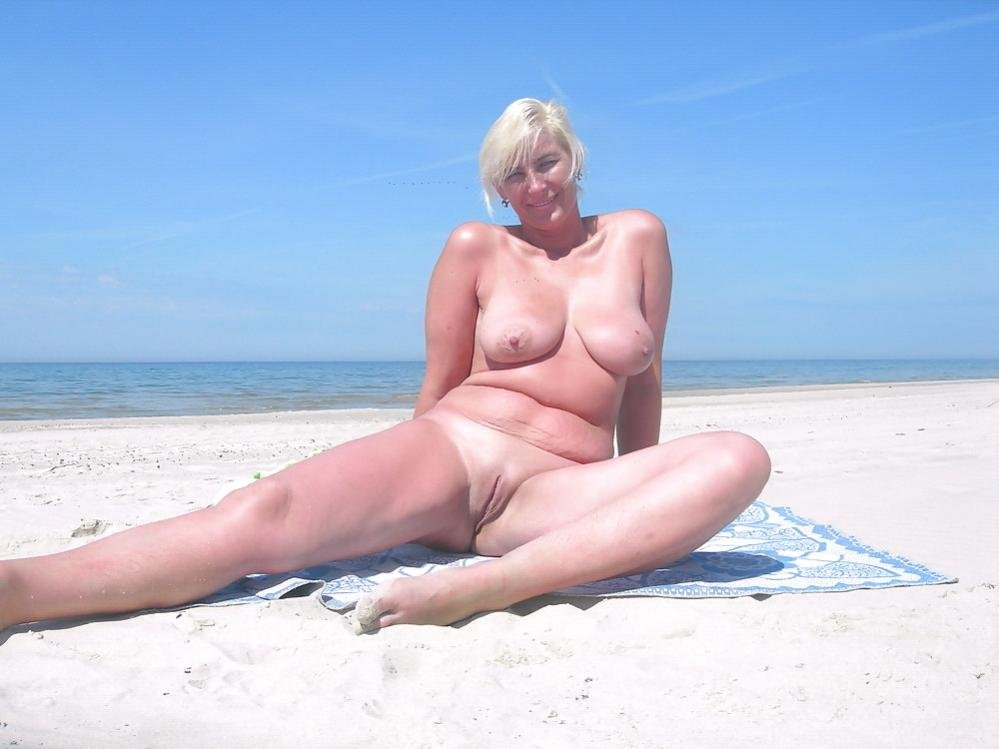 sexy mature on the beach add photo