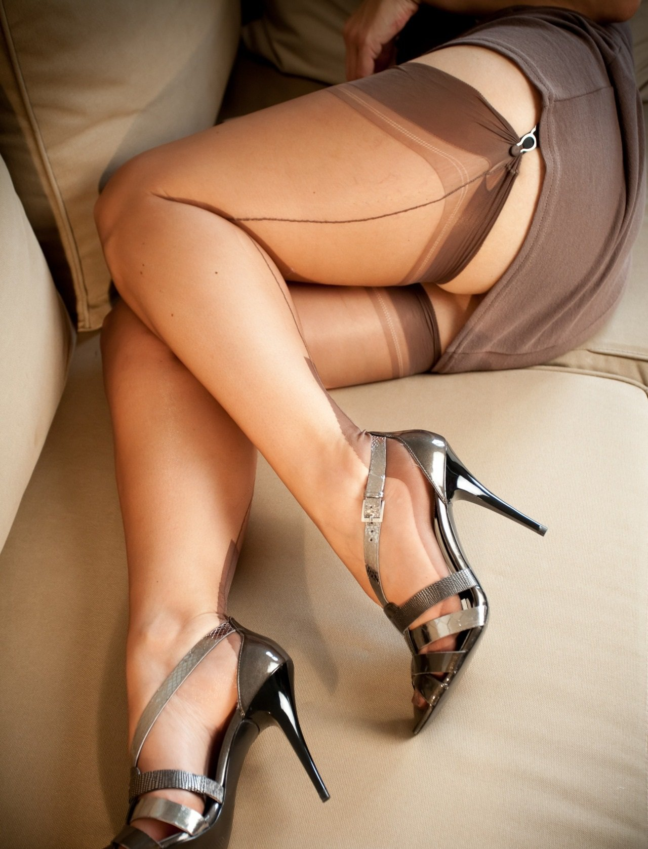 Sex wearing garter belts nylons
