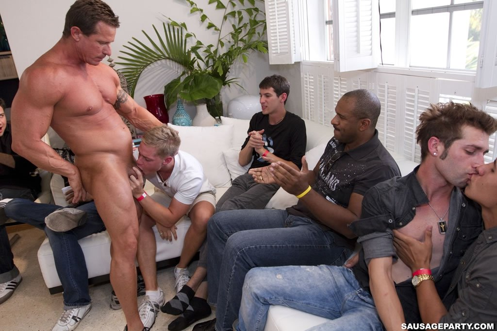 Amazing gay sausage party by cocksausage