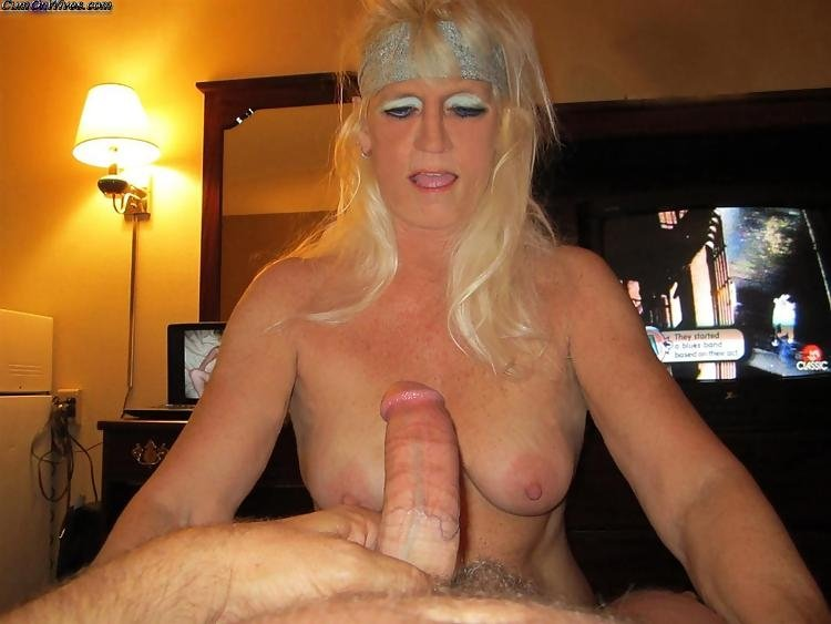Milf with short blond hair #6