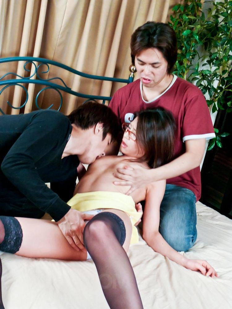 Japanese cheating husband with my frends in house full story