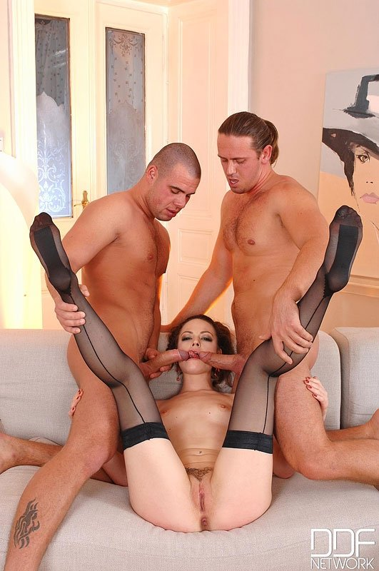 4 man and 1 girl sex