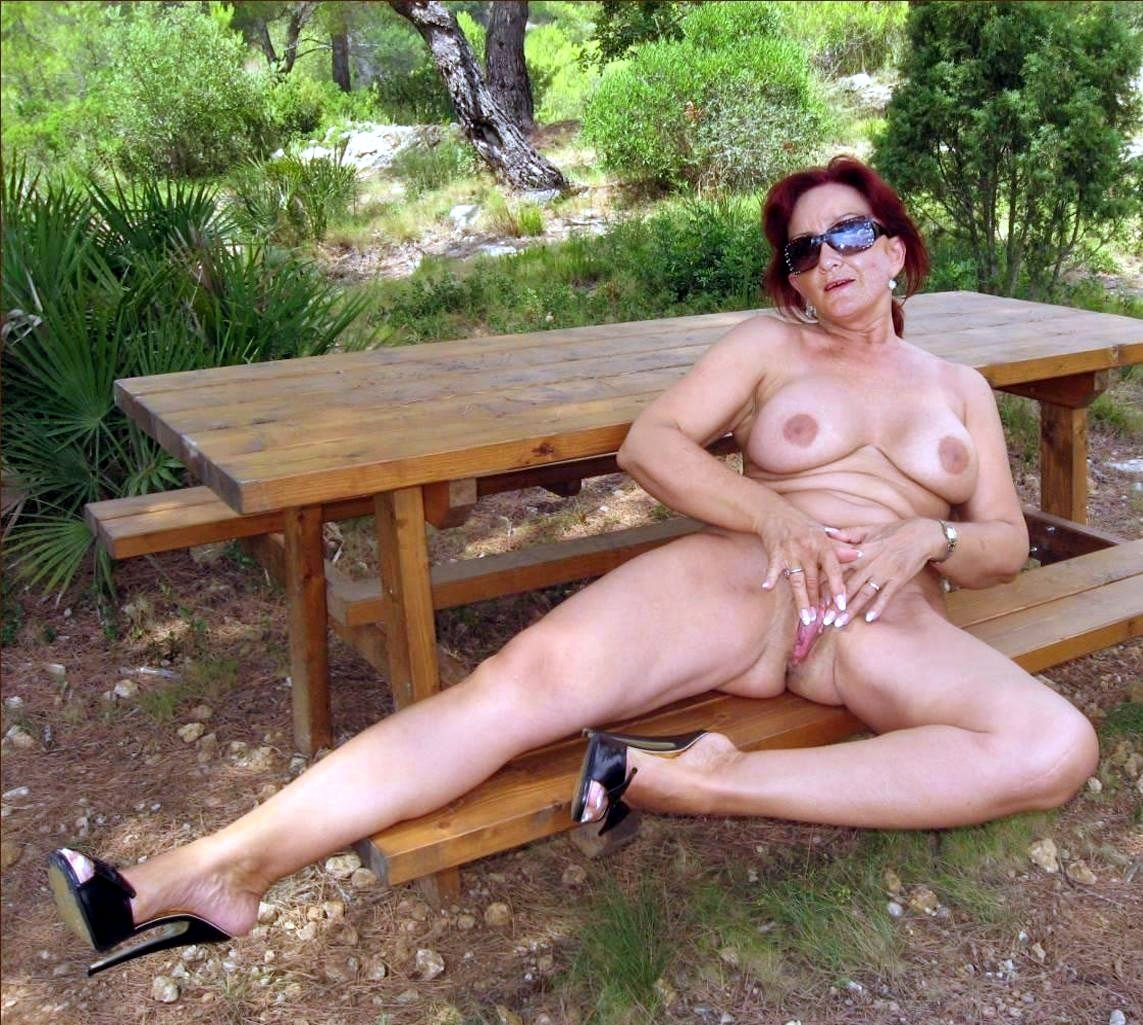 Amateur mature outdoors