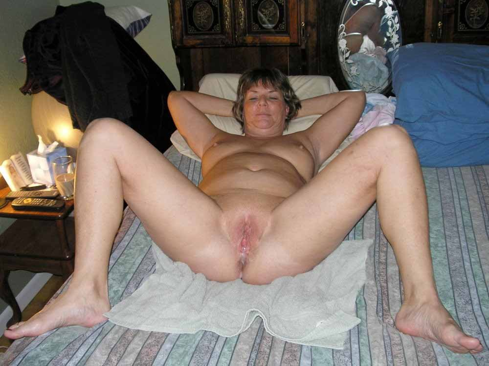 Sexy granny hairy Husband cum on her foot