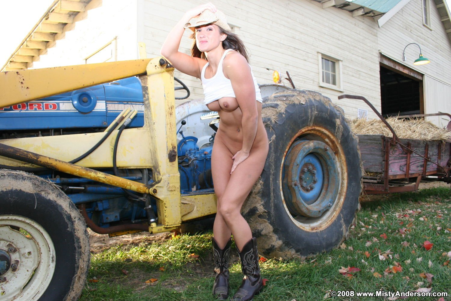 Nude woman on farm tractor pics — 15