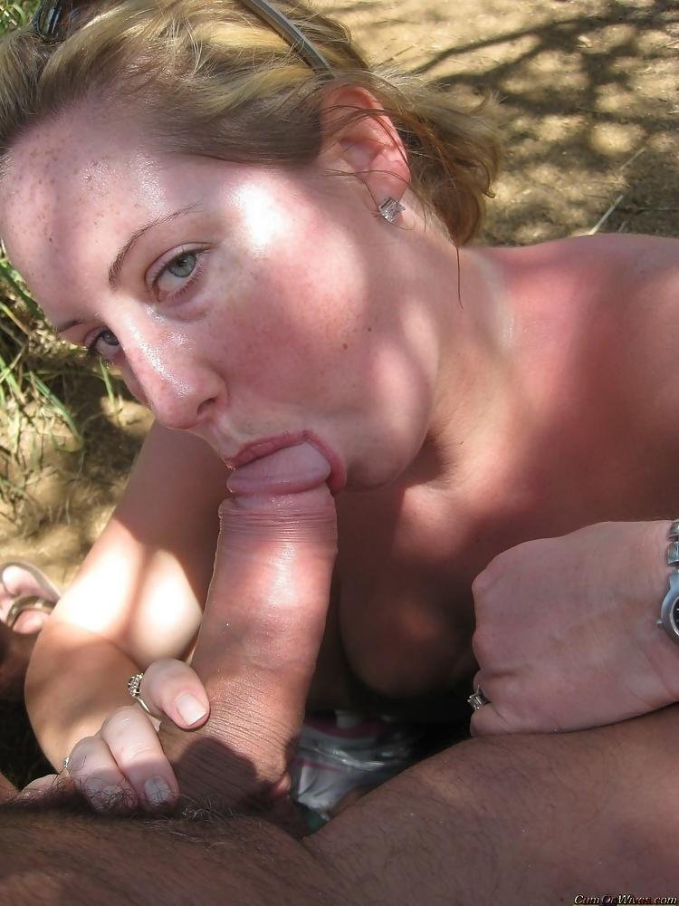 White trash wife blowjob